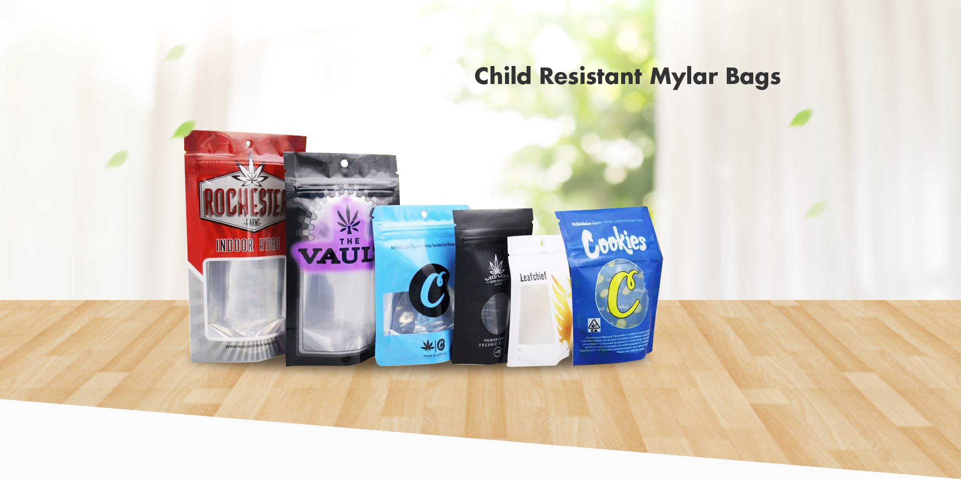 Custom Printed Child Resistant Mylar Bags
