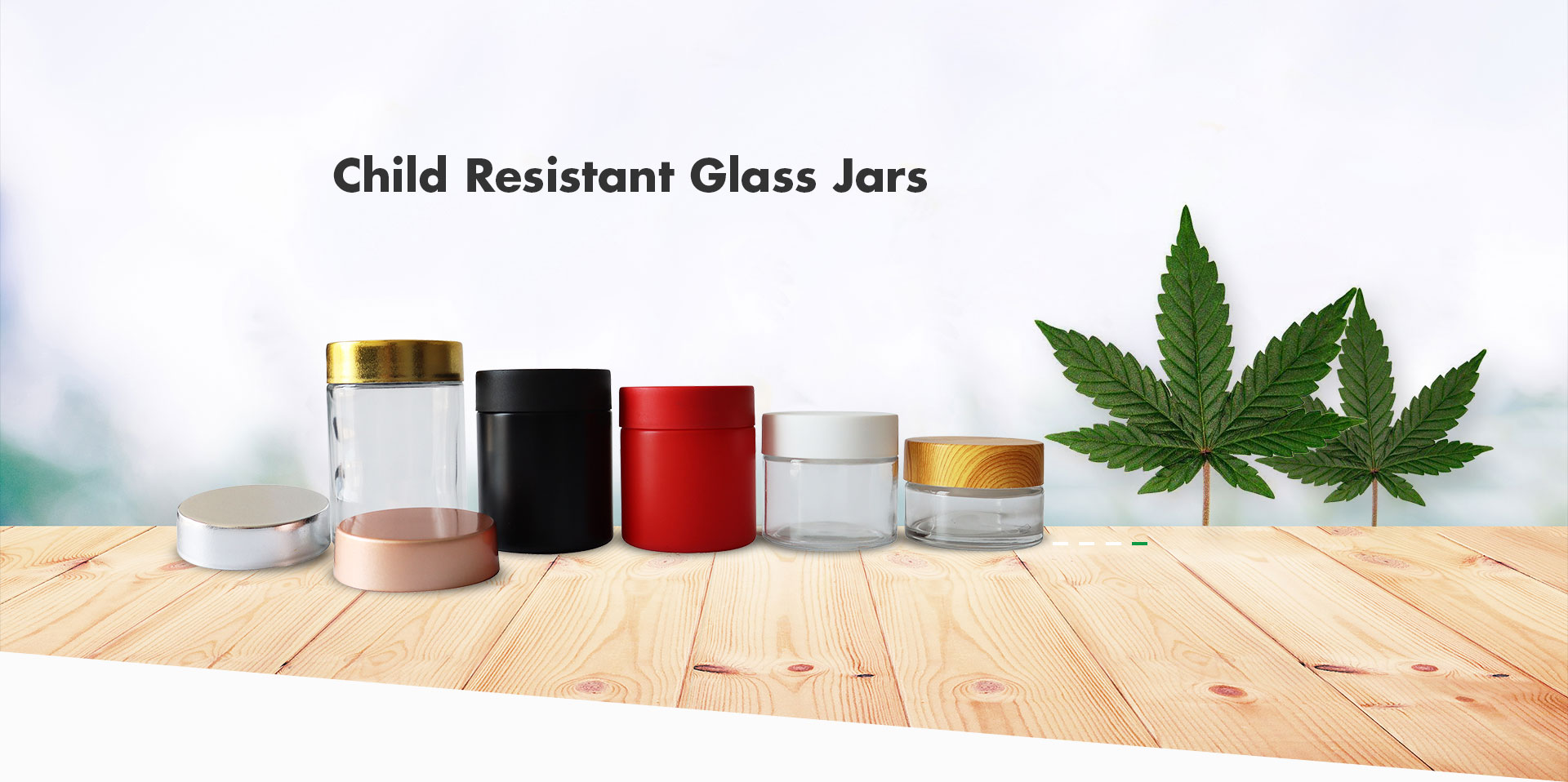 Child Resistant Glass Jars