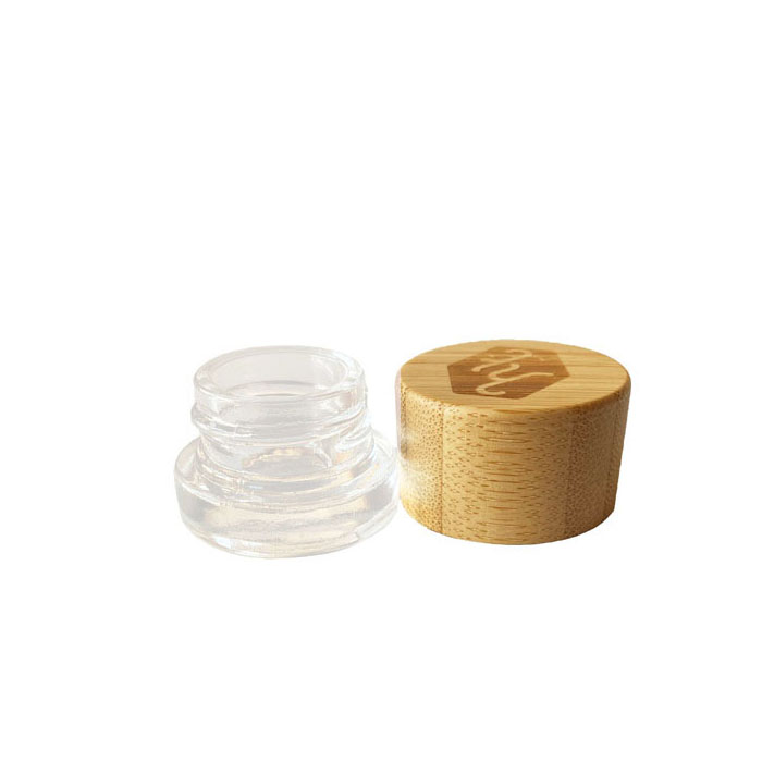 5ml  Concentrate Glass Jar with CR bamboo lid
