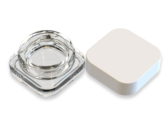 9ml Square Concentrate Glass Jar with CR lid