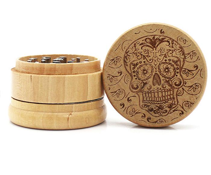 wood herb grinder