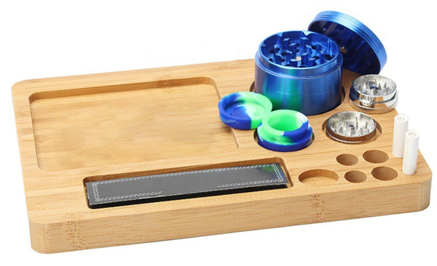 bamboo wood rolling tray