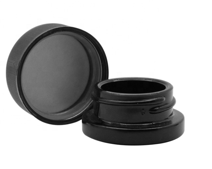 9ml Child Resistant Concentrate Black Glass Jars