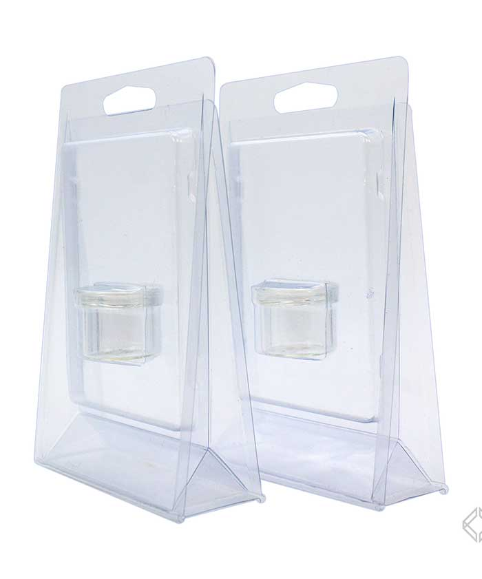 6ml Glass Jar Clamshell Blister Packs