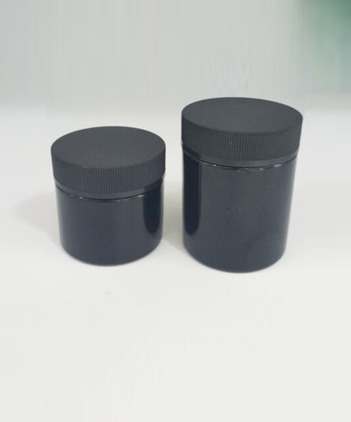 Black Child Resistant Glass Jars