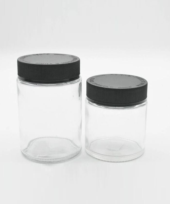 Clear Child Resistant Glass Jars