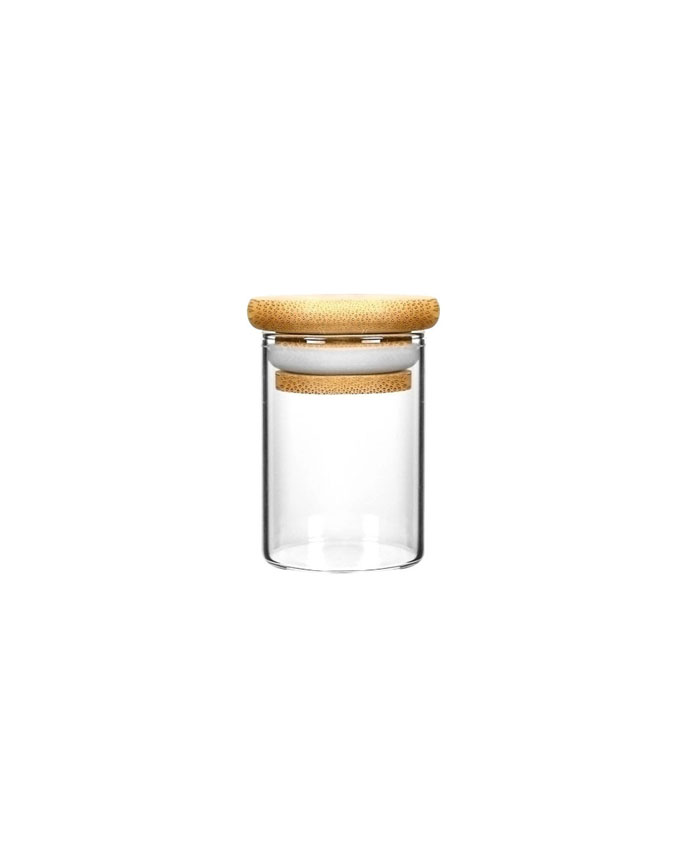 1oz Wood Lid Suction Glass Jars