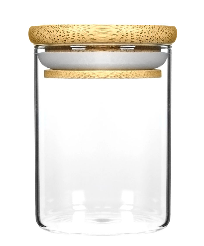 18OZ Wood Lid Suction Glass Jars