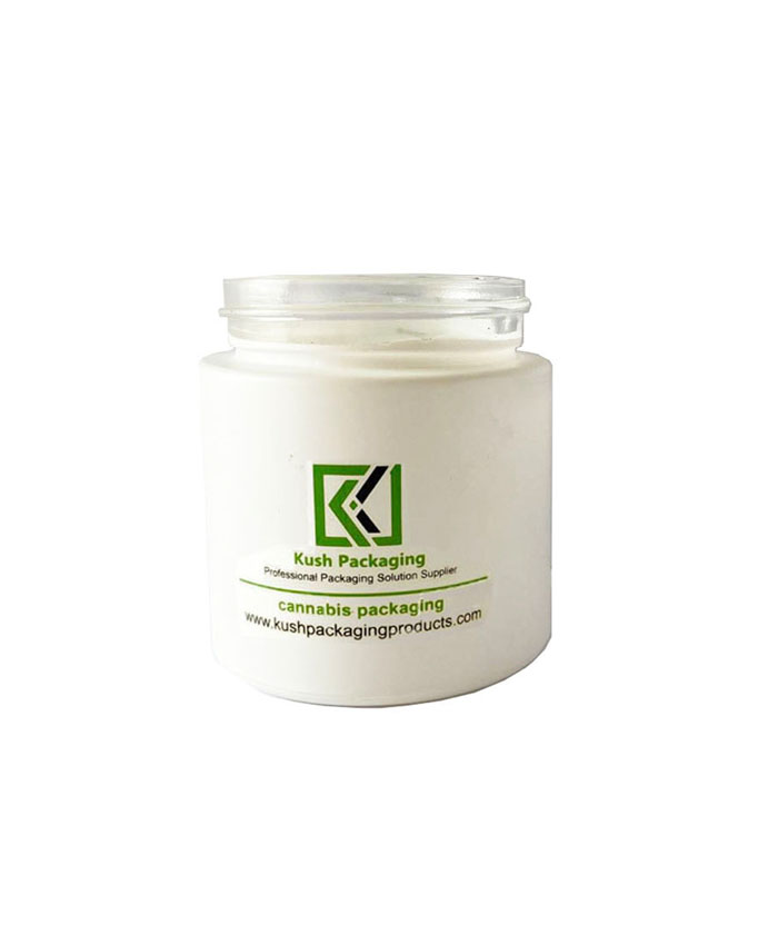 4oz child resistant matte white glass jars