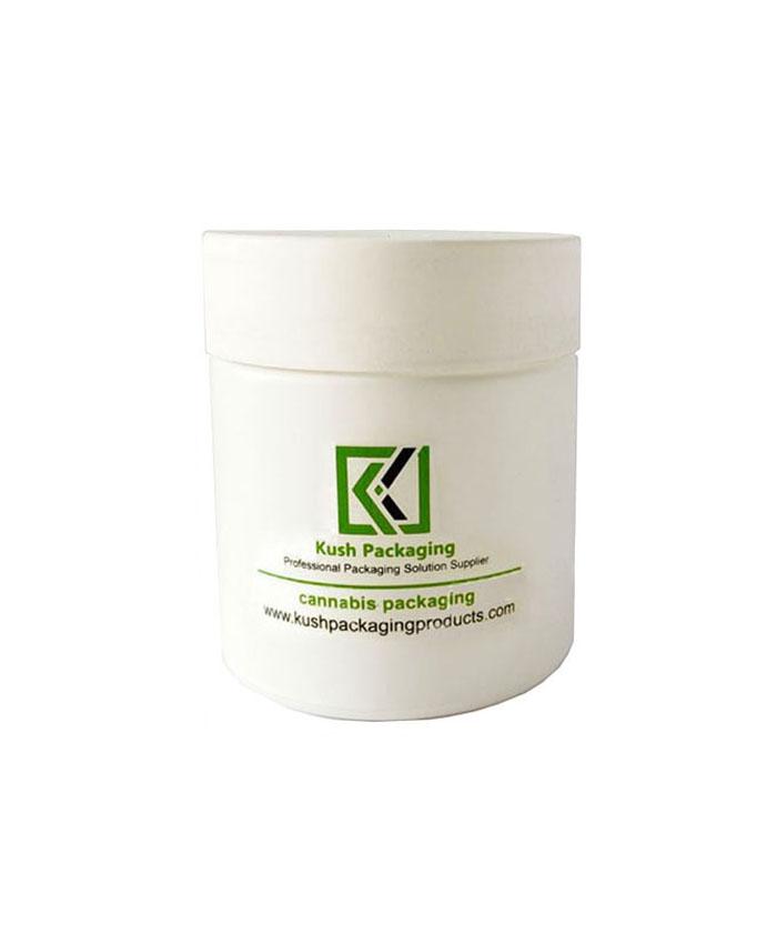 5oz child resistant matte white glass jars