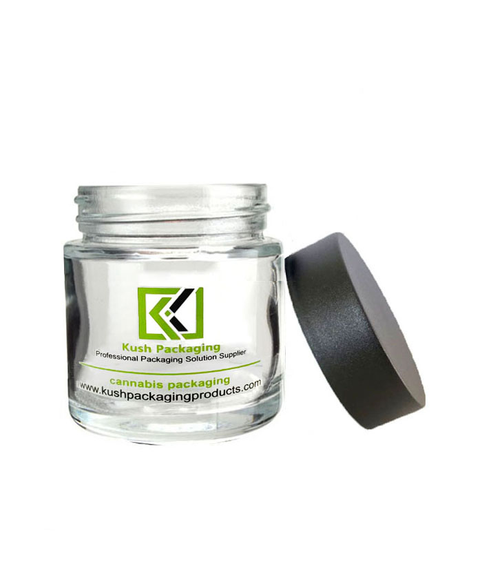 4 oz Clear Child Resistant Glass Jars with black lid