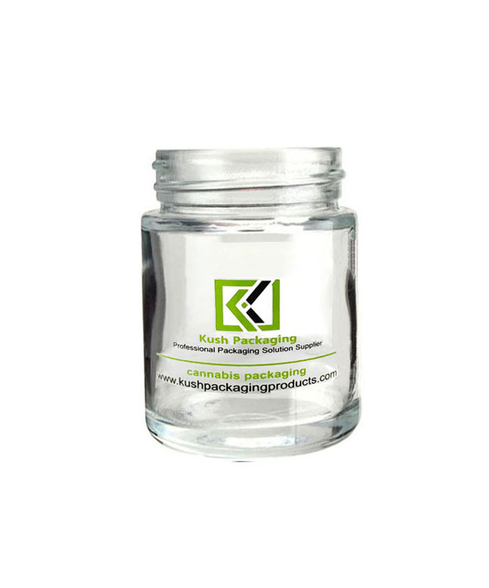 5oz Clear Child Resistant Glass Jars with black lid