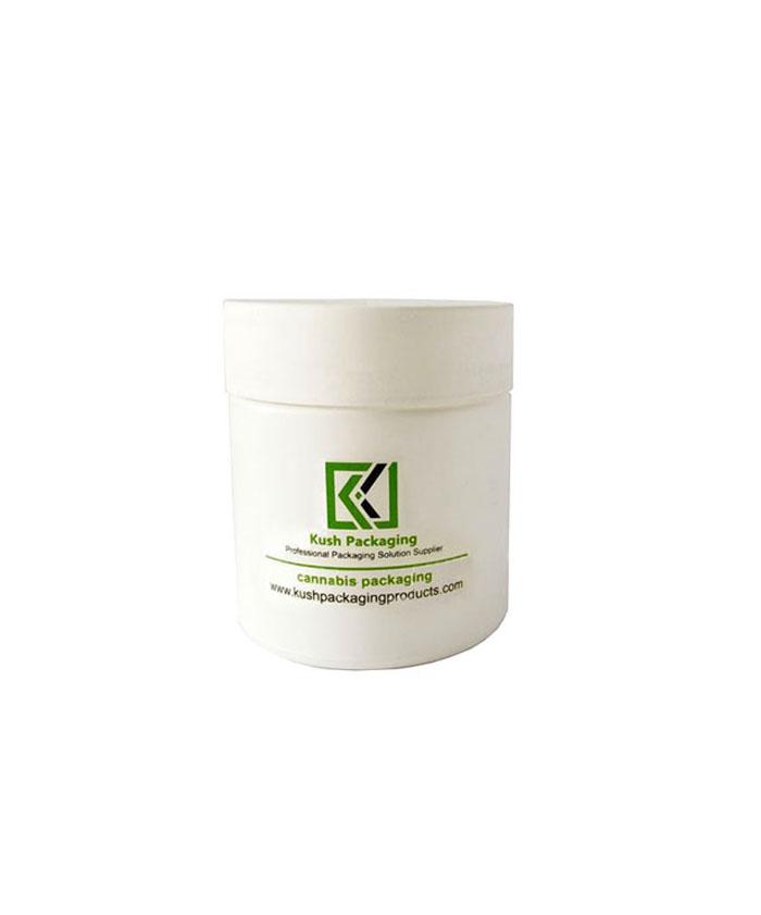 3oz child resistant matte white glass jars