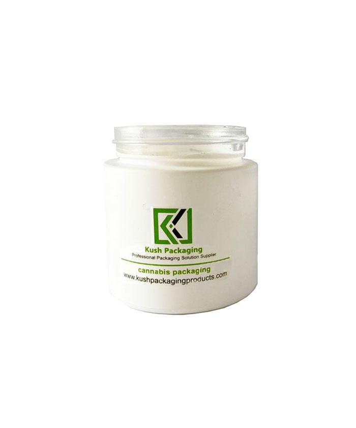 3oz child resistant matte white glass jars