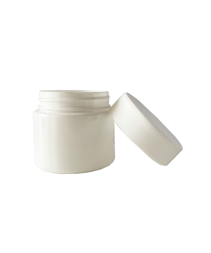 3oz Opaque White Child Resistant PET Plastic Jars