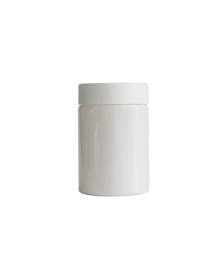 5oz Opaque White Child Resistant PET Plastic Jars