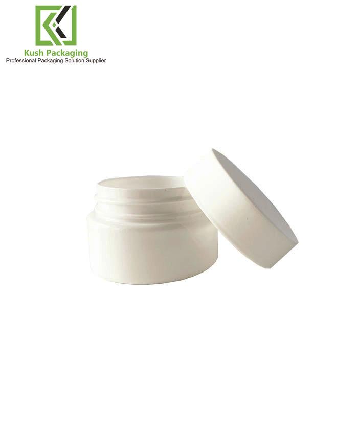 2oz  White Child Resistant PET Plastic Jars