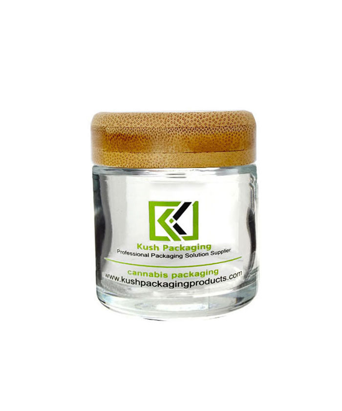 4oz bamboo lid glass cream jars