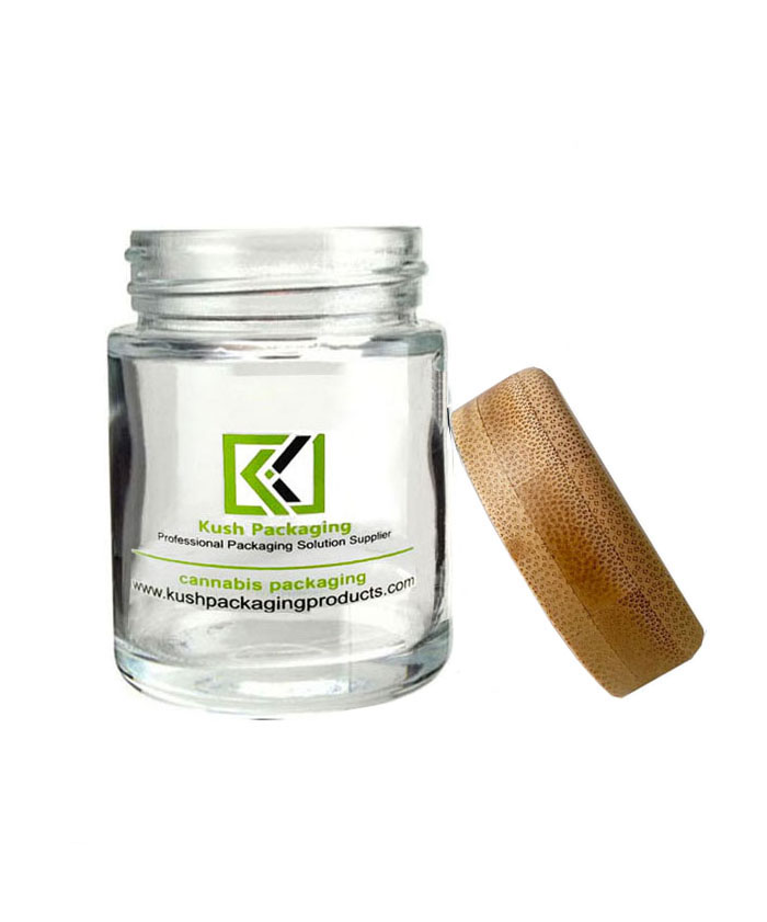 5oz  bamboo lid glass cream jars