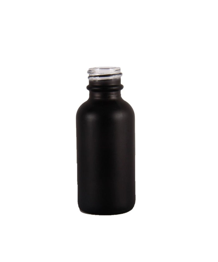 1oz Matte Black Glass dropper bottle