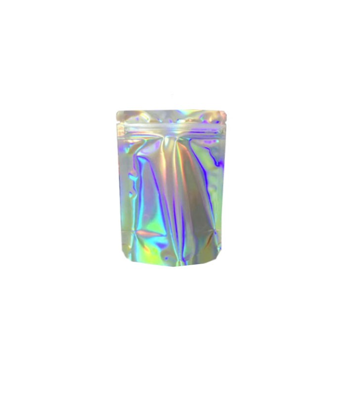 3.5g holographic Smell Proof Mylar Bags