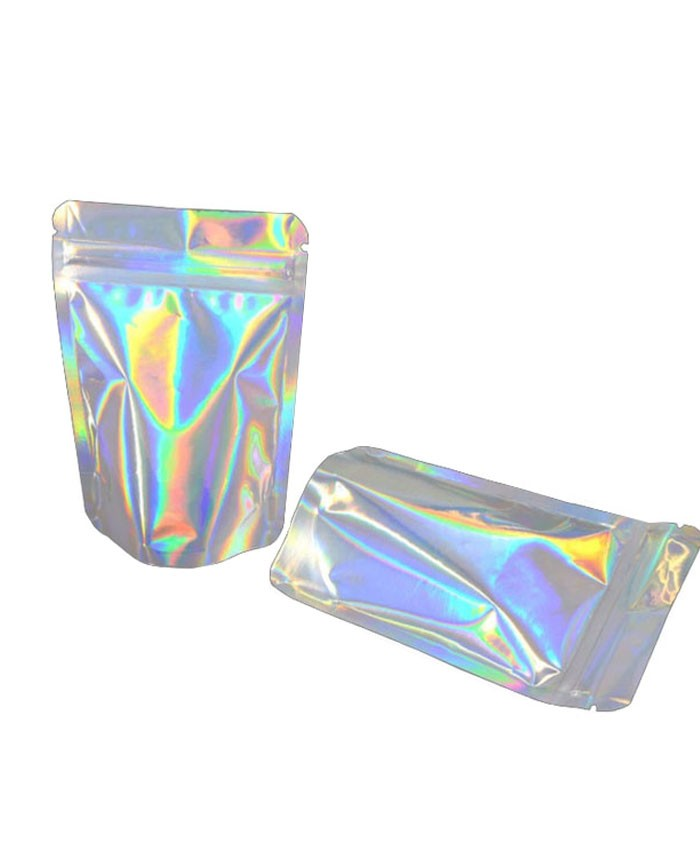 7g holographic smell proof mylar bags