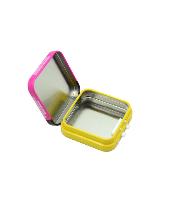 Child Resistant Square Tin box