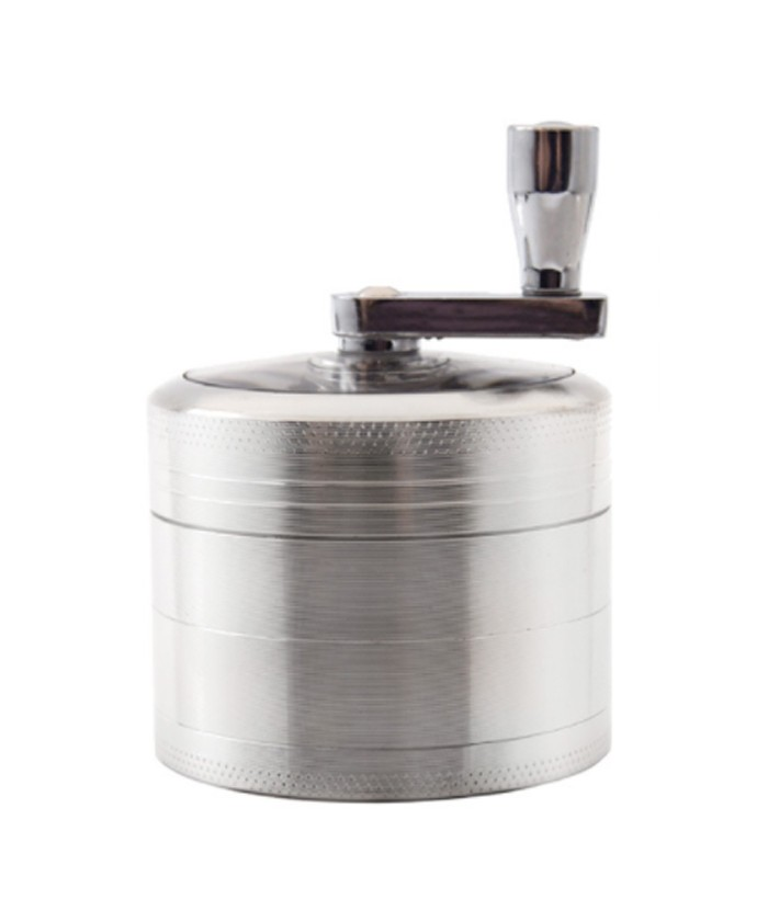 Chromium Crusher Herb Metal Grinder with Handle