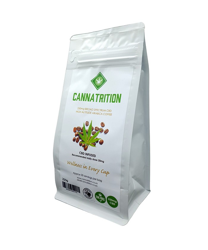 flat bottom pouch CBD infused coffee packaging bags