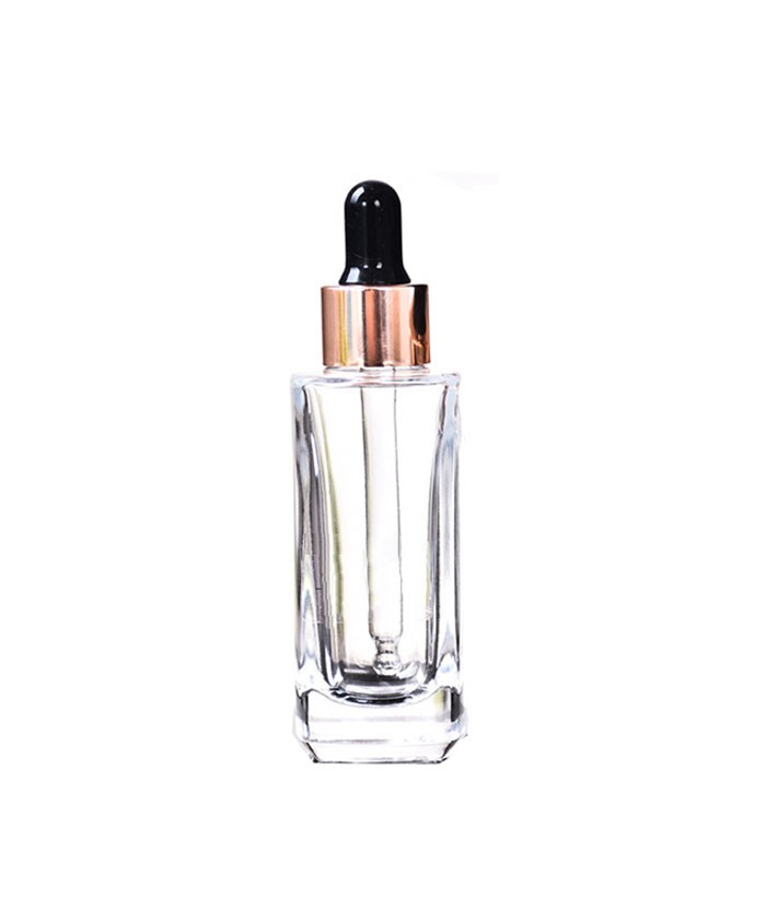 1oz (30ml) Square Glass Concentrate dropper bottle