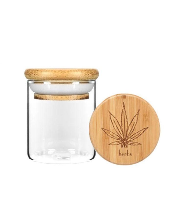 3OZ Wood Lid Suction Glass Jars