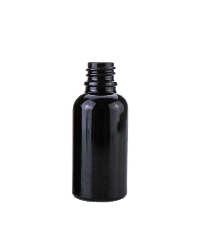 1oz(30ml) Black Glass dropper bottle