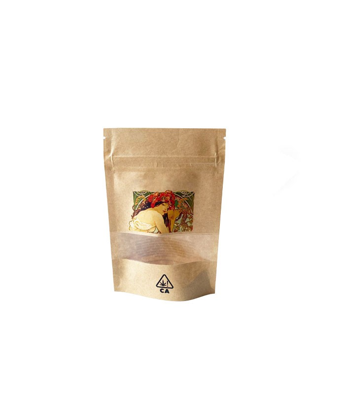 3.5g Kraft Paper Stand Up Pouch Packaging Bags