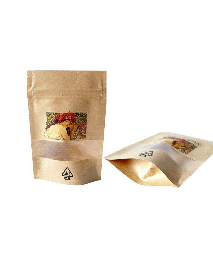 7g Kraft Paper Stand Up Pouch Packaging Bags