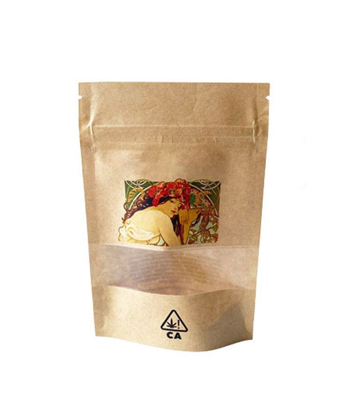 28g Kraft Paper Stand Up Pouch Packaging Bags