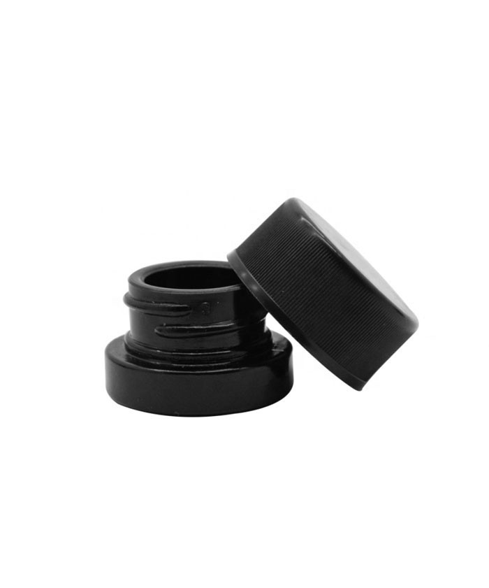 5ml Child Resistant Concentrate Black Glass Jars