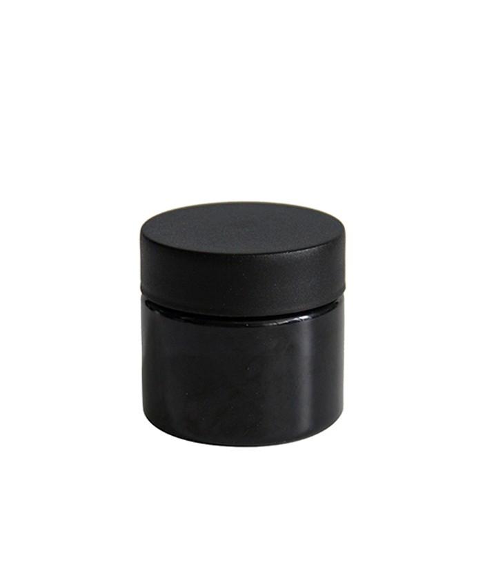 3oz Black Child Resistant PET Plastic Jars
