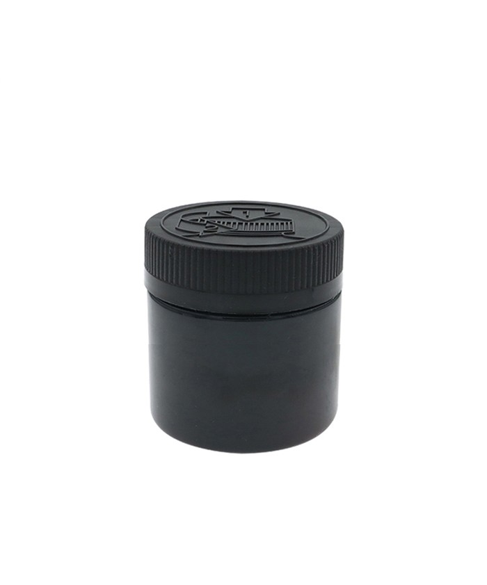 4oz Black Child Resistant PET Plastic Jars
