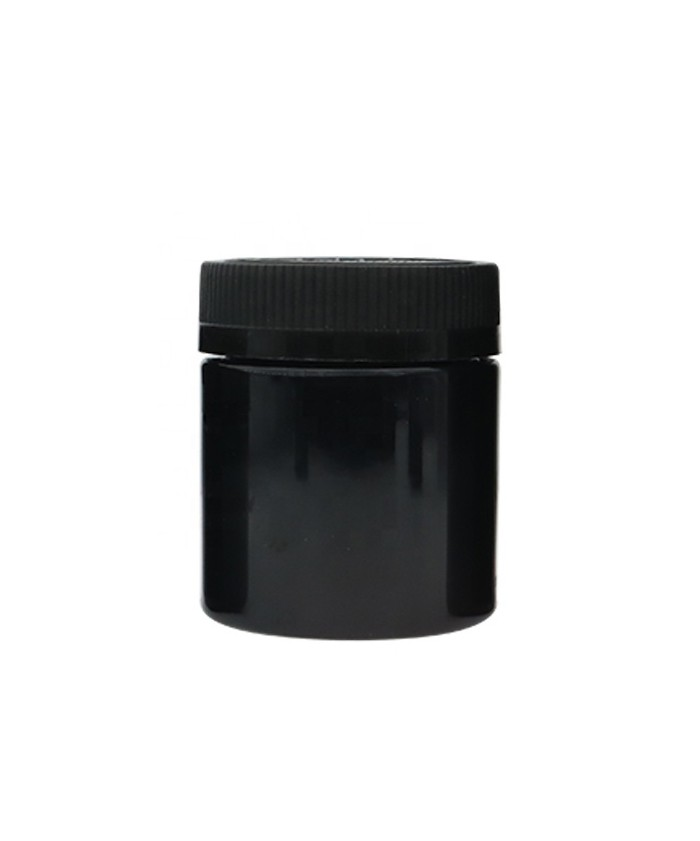 5oz Black Child Resistant PET Plastic Jars