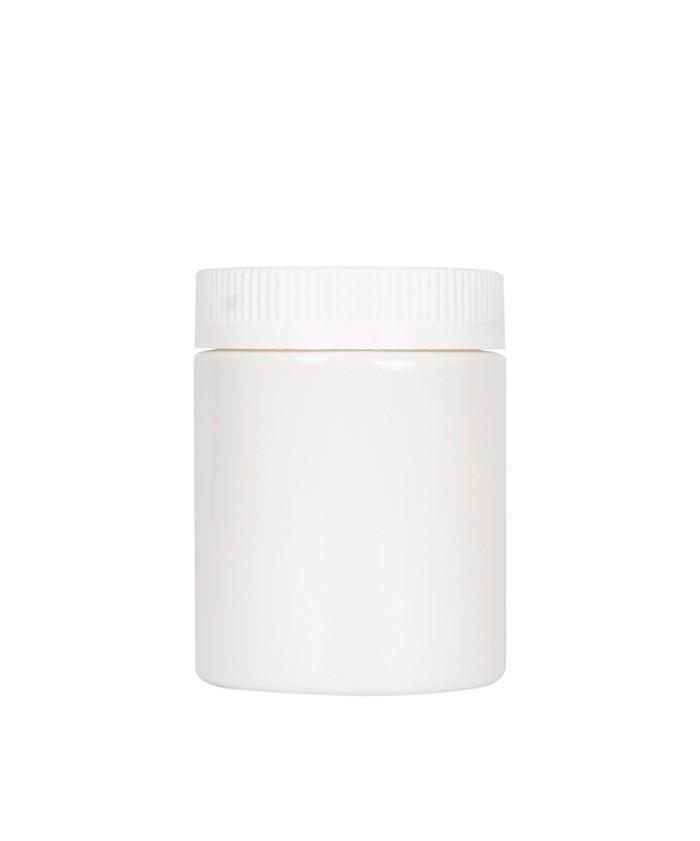 5oz Opaque White Child Resistant PET Plastic Jars
